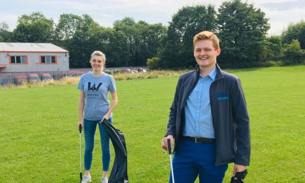 Youth Councillor teams up with MP to clean up community