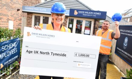 Local housebuilder supports older people with £1,000 donation to Age UK North Tyneside