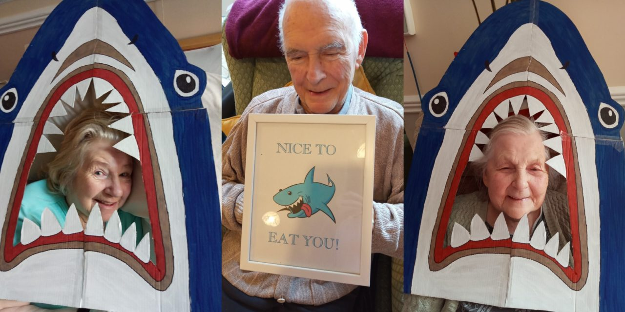 Sharks seen in Saltburn by care home residents
