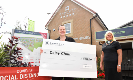 Autism support charity receives £1,000 donation from local housebuilder
