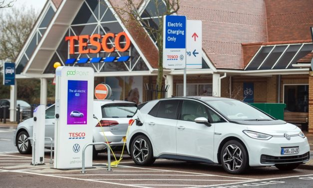 VOLKSWAGEN, TESCO AND POD POINT REACH MILESTONE AS 200TH STORE GETS FREE ELECTRIC VEHICLE CHARGERS