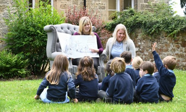 Storyteller sits comfortably at Northumbrian school