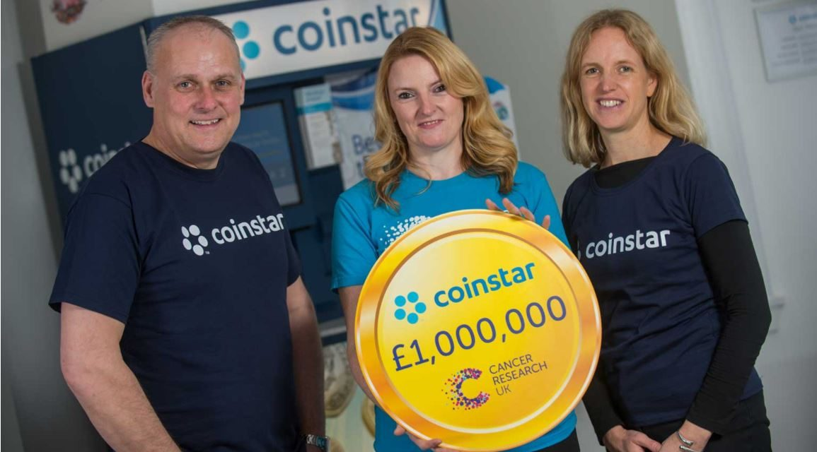 NORTH EAST COINSTAR CUSTOMERS HELP RAISE OVER £1M FOR CANCER RESEARCH UK