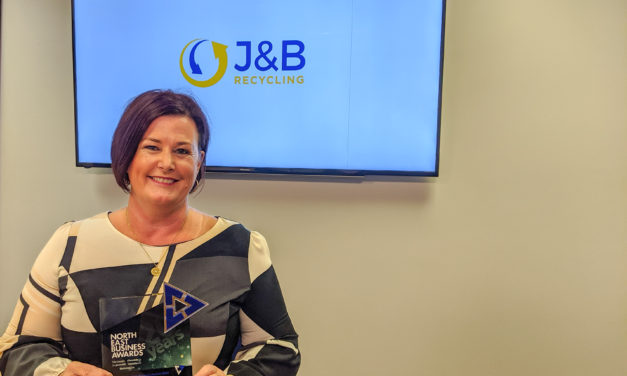 J&B Recycling wins Teesside Company of the Year at the North East Business Awards