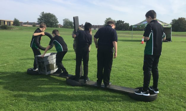 Pupils build team spirit with The Army's help