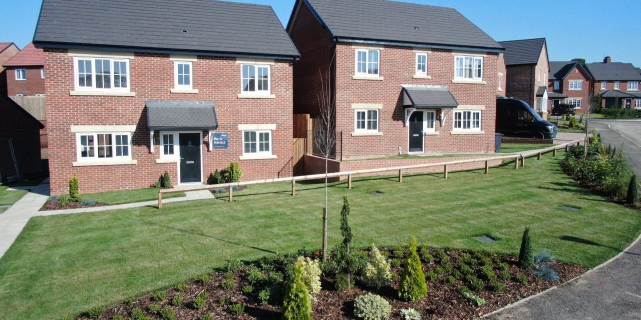 First homes constructed on second phase of Heighington development