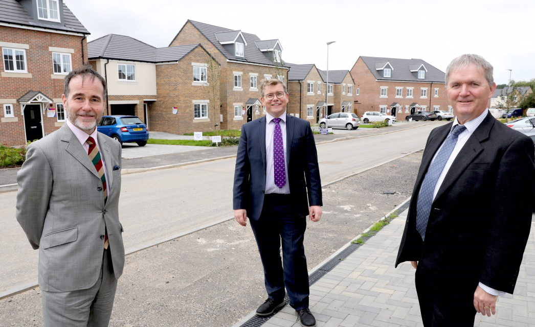 Housing Minister joins local MP on visit tonew affordable housing development in Darlington