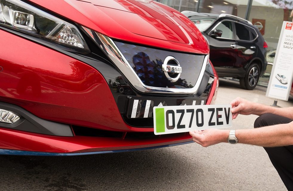 NISSAN DEALERS PREPARING FOR INTRODUCTION OF GREEN NUMBERPLATES FOR EVs