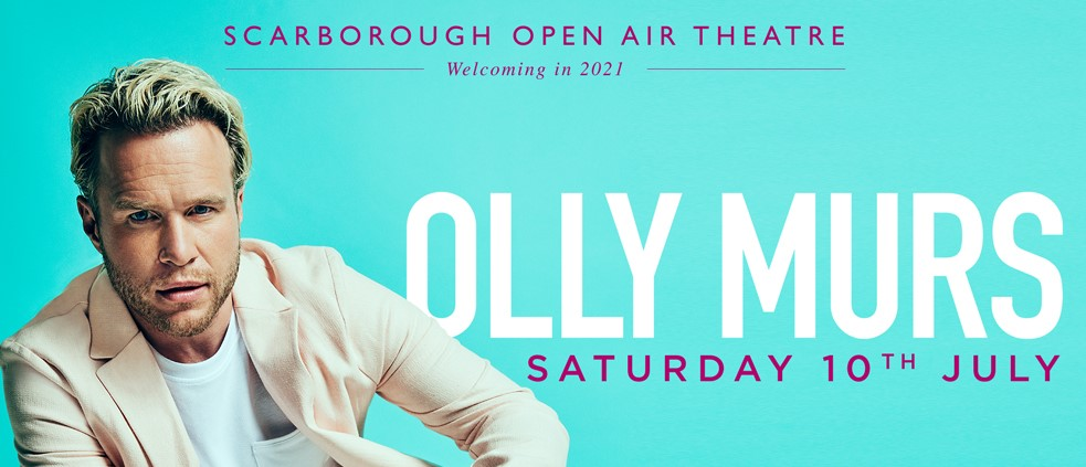 Olly Murs Returns To Scarborough Open Air Theatre As Part of 2021 Summer UK Tour