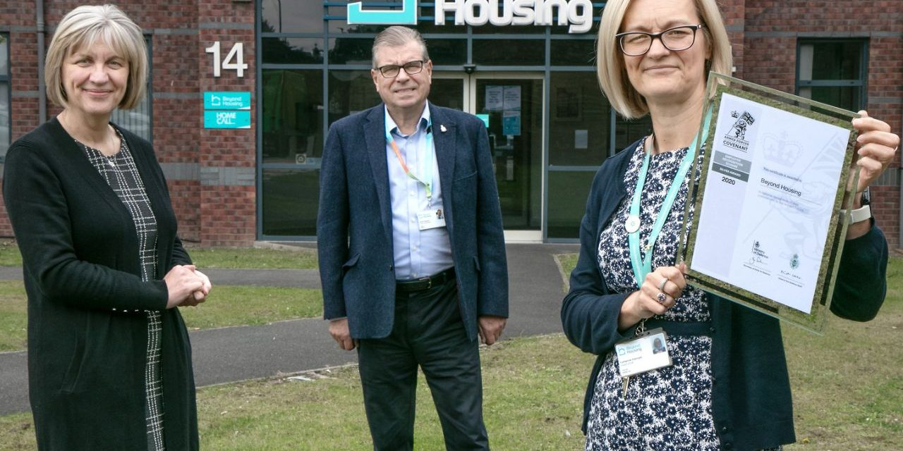 Beyond Housing recognised for commitment to Armed Forces