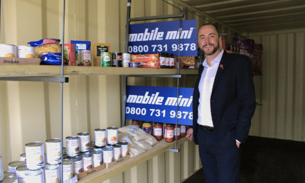 Mobile Mini pledges to fill 16 containers for local foodbanks
