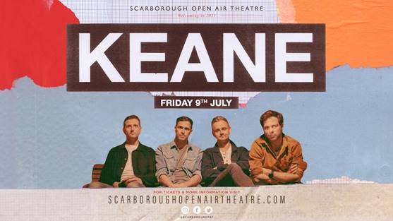 Keane to play headline show at Scarborough Open Air Theatre