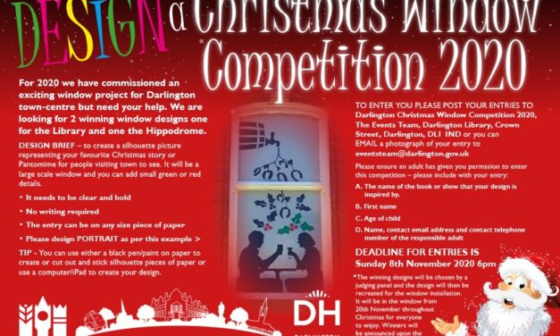 Christmas window competition in Darlington