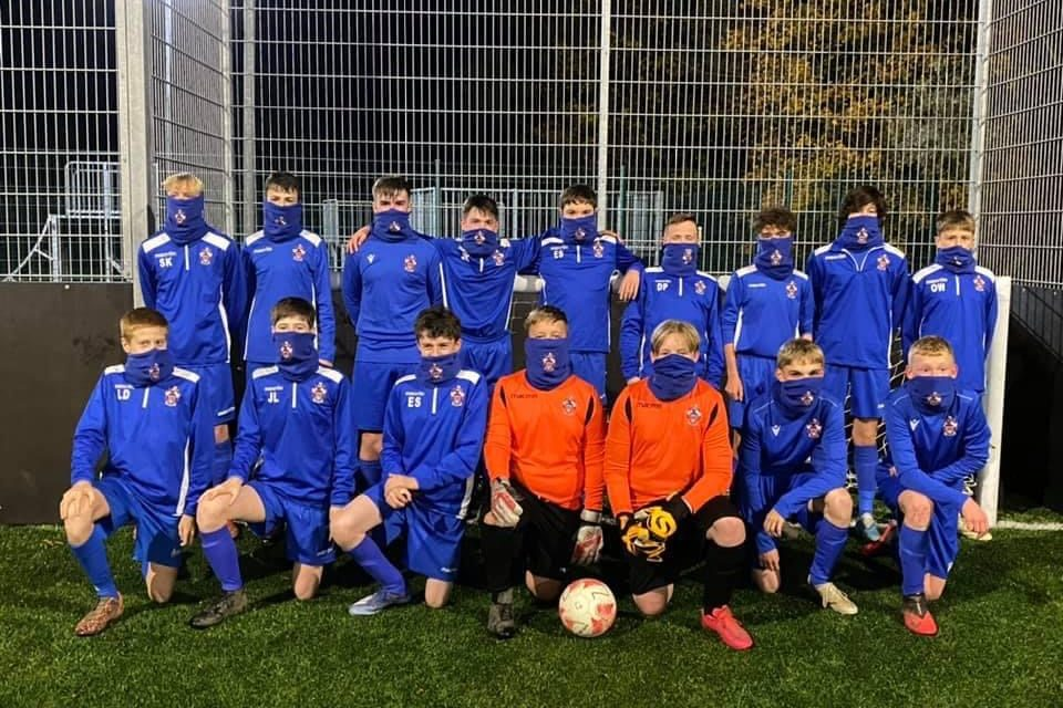 Young Barnard Castle Footballers Ready For Winter Thanks To Banks Property Snoods Grant