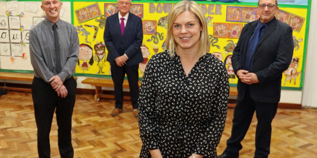 Changing of the guard at garrison primary school