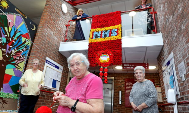 Karbon residents create colourful poppy display