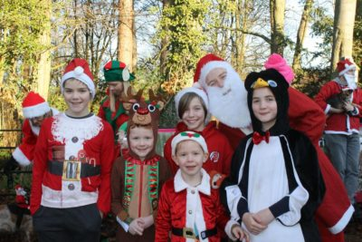 The Gooding family, from Darlington, during last year's Butterwick Santa Run