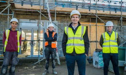 MP praises construction firm's commitment to apprentices during site visit to St Hilda's Church