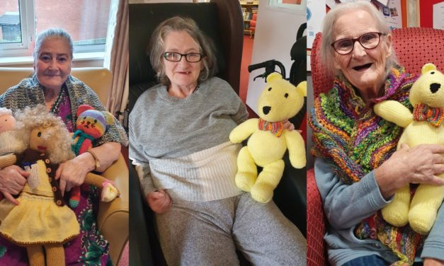 Knitters brings smiles to Peterlee care home residents