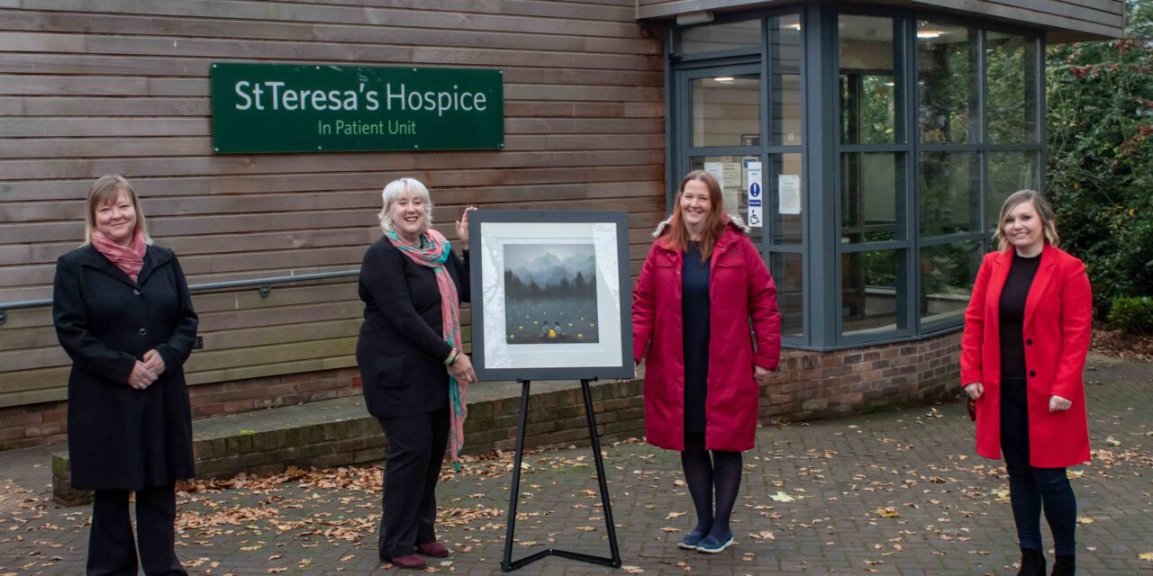 World-renowned artist recognises Darlington hospice's work caring for families