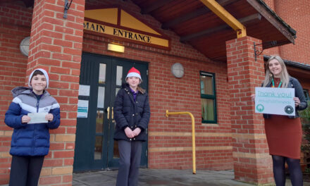 Pupils stage Santa dashes through school in aid of hospice
