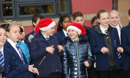 School singers shine a light in the dark days of winter
