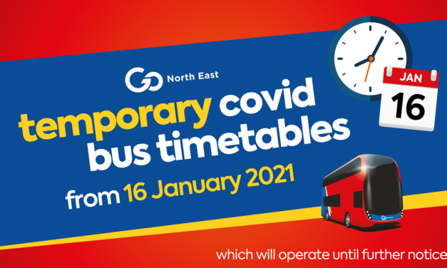 Temporary COVID bus timetables from 16 January