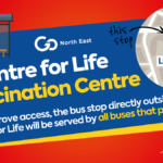 New dedicated bus stop improves access to the vaccination centre at Centre for Life