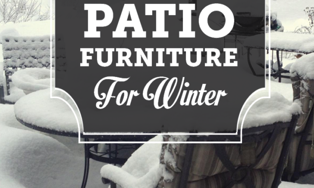 How can you store patio furniture for the season?