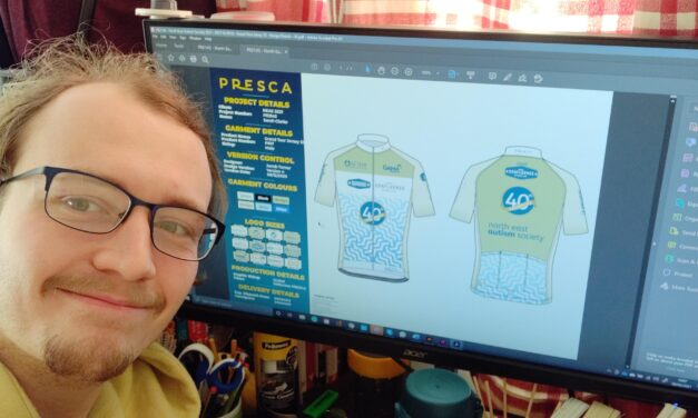 Teesside sportswear company draws up designs to boost autism charity