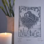 'Nurture': an original lino print especially for Mother's Day by Printmaker Hannah Turlington