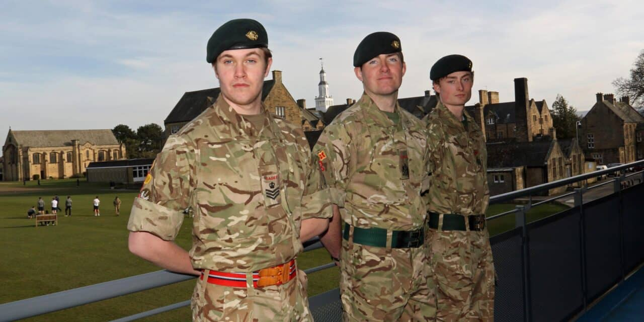 Cadets selected to accompany Her Majesty's Lord-Lieutenant of County Durham at public duties