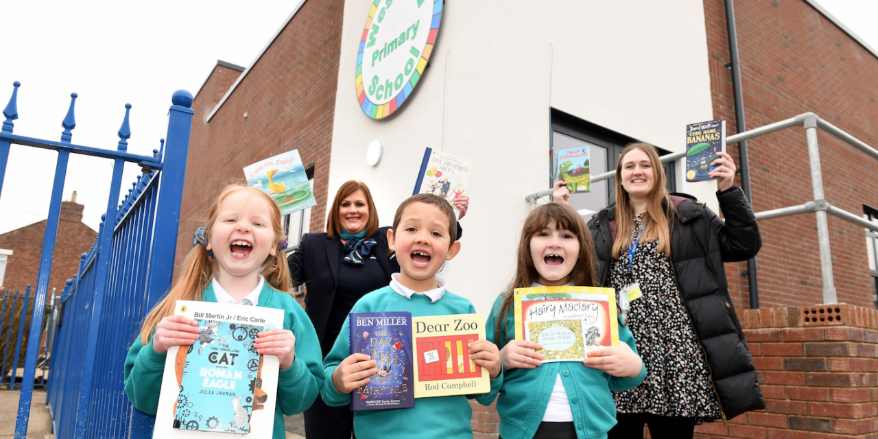 MILLER HOMES DONATES NEW BOOKS TO BEDLINGTON WEST END PRIMARY SCHOOL
