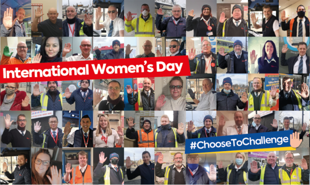 Go North East shows support for female colleagues on International Women's Day