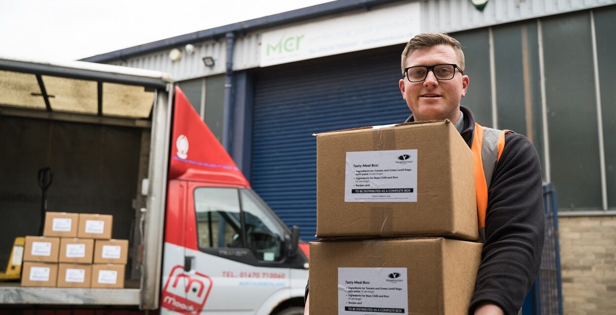 MCR Services assist Vegetarian Society in North East food bank initiative