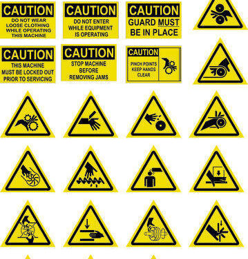 Equipment and Safety Machine Labels