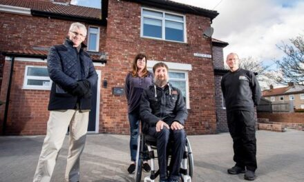 Three-way support sees injured Royal Marines veteran with keys to his forever home
