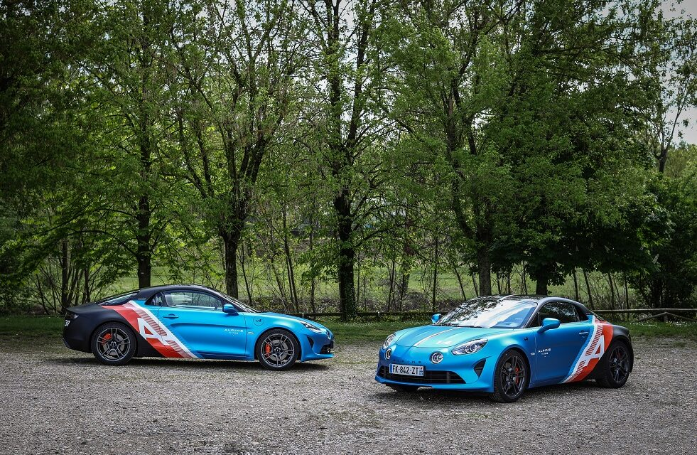 Here come the Alpine A110 trackside cars!