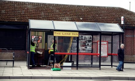 ARTS PROJECT TURNS BUS STOP INTO A PUB