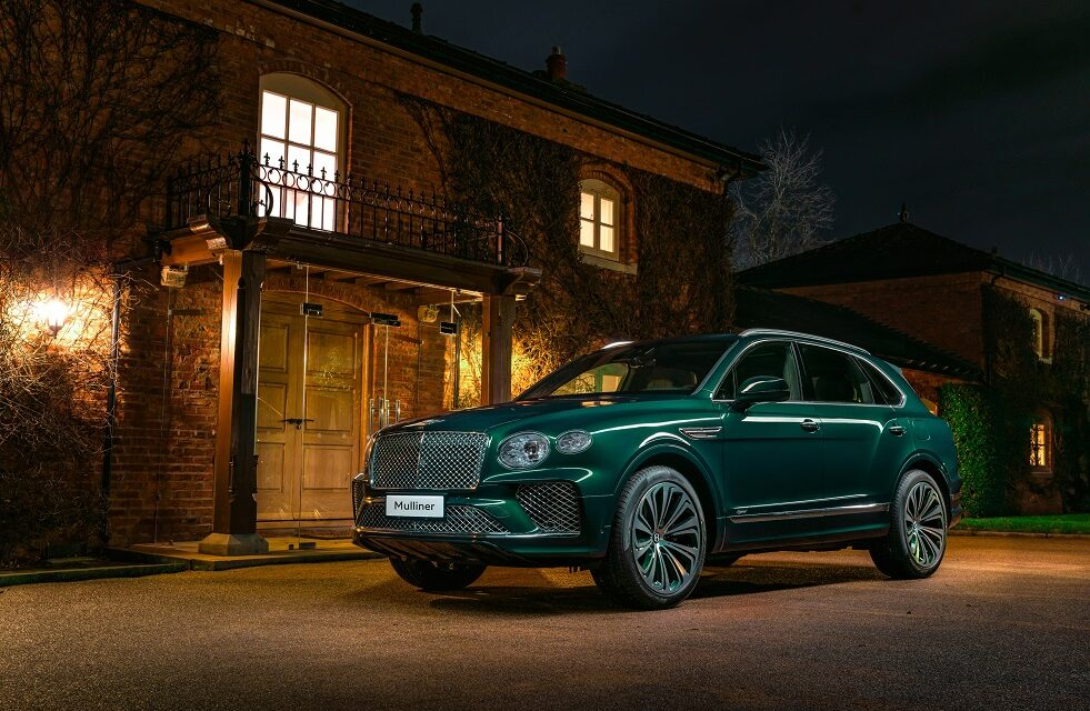 Inspired by purity, resplendent in green – a one-off Bentayga Hybrid