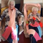 "90-year-old care home resident knits 150ft ""lockdown scarf"""