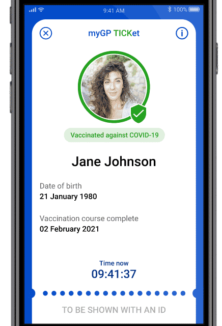 Just the TICKet – myGP app launches UK's first NHS assured COVID certification feature