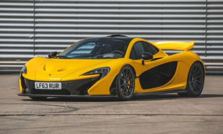 The very first McLaren P1 registered to a customer will cross the block at Silverstone Auctions May Sale