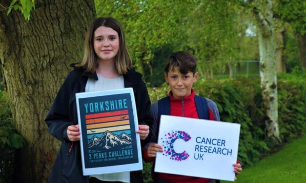 Melissa and Jack get ready to smash their Yorkshire Three Peaks Challenge time
