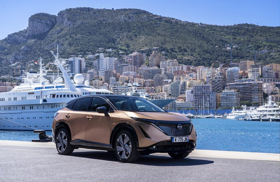 All-electric Nissan Ariya takes to the famous Monaco street circuit for its public driving debut