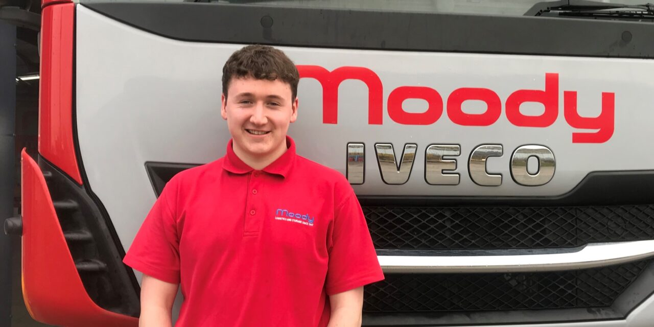 Former apprentice Rhys is voted Moody Logistics' Employee of the Year