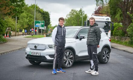 Volvo Car UK and the Brownlee brothers unveil the 'Recycled Road'