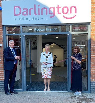Mayor opens building society's new branch as leaders welcome town centre investment