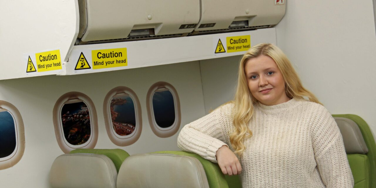 Caitlin is flying high after leaving school bullies behind
