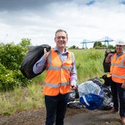 Middlesbrough Mayor Andy Preston and Esh Construction Team Up for Great British Spring Clean